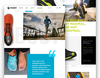 Topo Athletic: Interactive Story