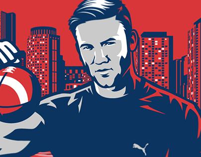 PUMA x JE11 Boston Strong illustration