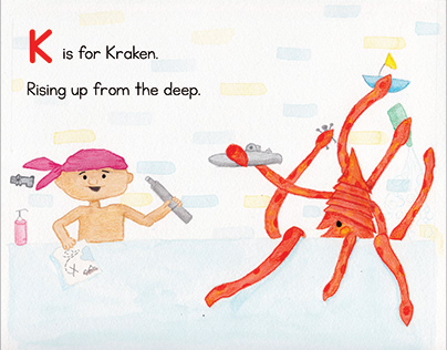 Baby Beastiary: K is for Kraken