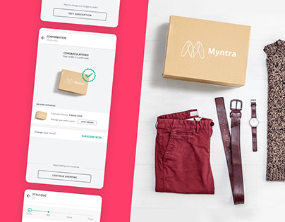 Myntra Subscription Box - UI/UX