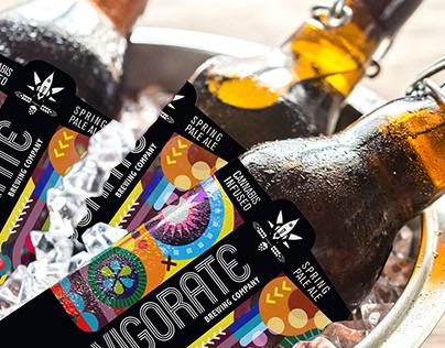 Invigorate Cannabis Brewing Company - Label Design