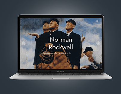 Norman Rockwell | Website concept