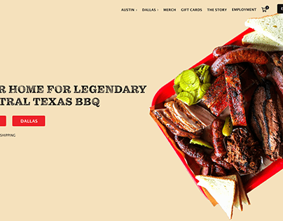 Terry Black's BBQ Homepage Redesign