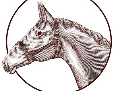 Horse head farm logo concept