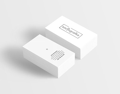Rebranding marki Socjografka logo minimalistyczne
