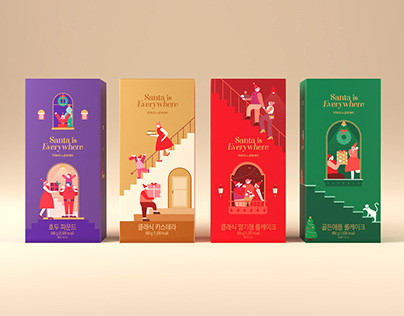 Tous les Jours Christmas packagings