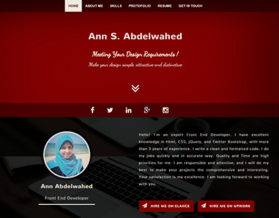 Responsive Profile page using Bootstrap