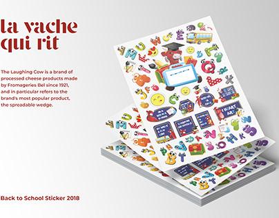 La Vache Qui Rit (Back to School Sticker)