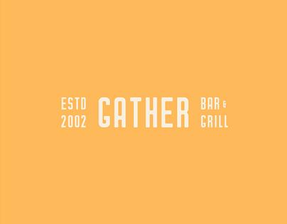 Gather Bar & Grill Logo Concept