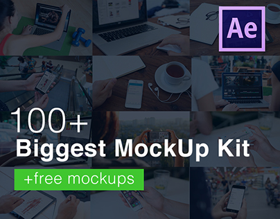 100+ MockUps for After Effects + Free Templates