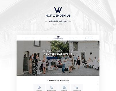 Hof Wendenius Homepage Deign