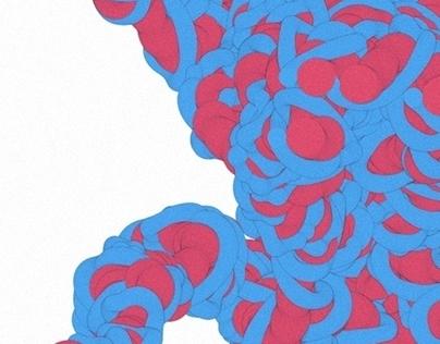 Worm, daily generative with Openframeworks