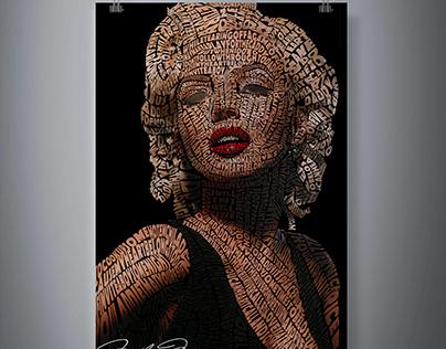 Typographic Portrait / Marilyn Monroe