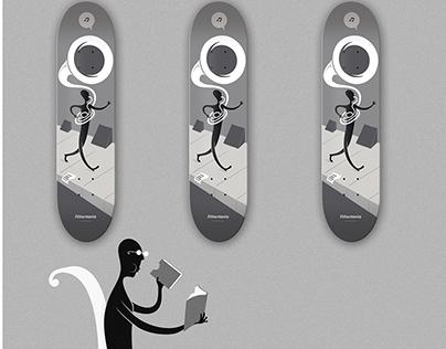 the jonze × filharmonia skateboarding