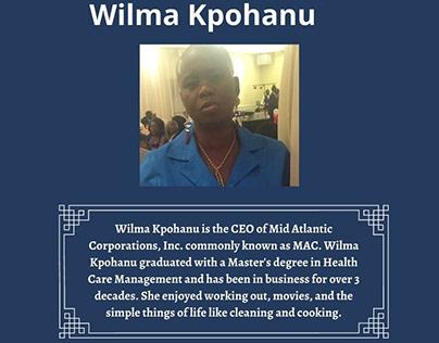 Health Management Specialist  Wilma Kpohanu