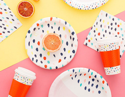 BRIT+CO for Cheeky Disposable DInnerware Product Line