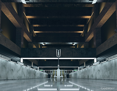 M4 metro station interior viz