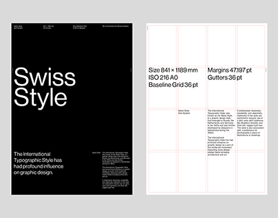 Swiss Style A0 Poster Grid System for InDesign