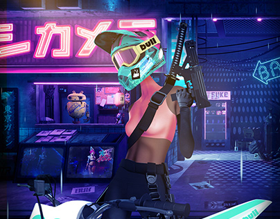 Night Ride in Tokyo (Character Design)
