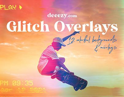 Free Grunge Glitch BG & Overlays