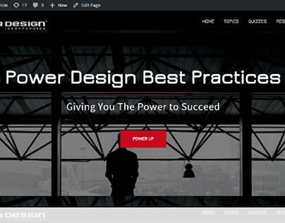 Power Design Inc. 'Best Practices' website UI/UX Mockup