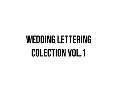Wedding Lettering Vol 1