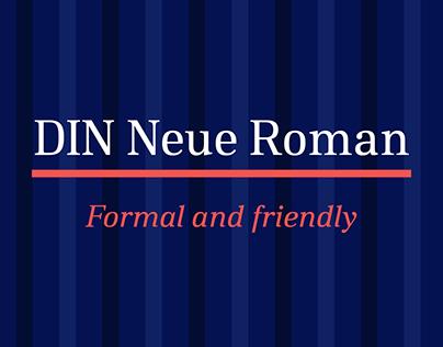 DIN Neue Roman Typeface