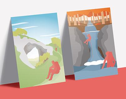 Illustrated Posters / Four Seasons / Garfagnana