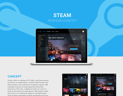 UI/UX Design: STEAM Redesign
