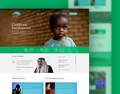 Agfund - Homepage design