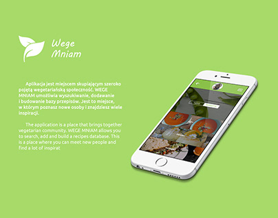 wege mniam - app concept