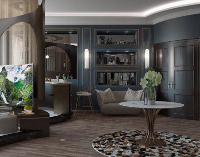 Neoclassic hallway