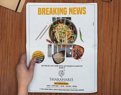 Shakaharis - Restaurant Print Ads