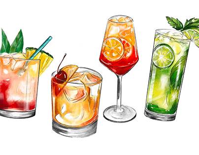 Food Illustration Compilation