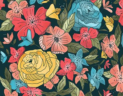 Floral patterns illustrations