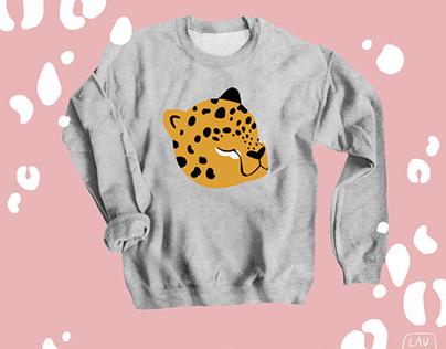 Leopard apparel design