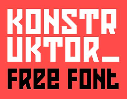 Konstruktor Free Font
