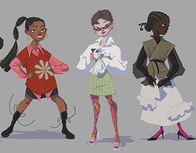 Street Wear Character Designs