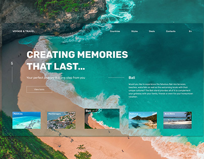 Travel agency design concept