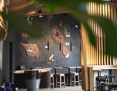 Graphic wall Makisu