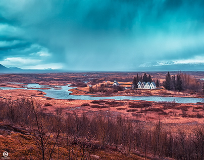 'the fields of parliament' Þingvellir National Park