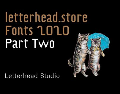 Letterhead Fonts 2020 Part Two