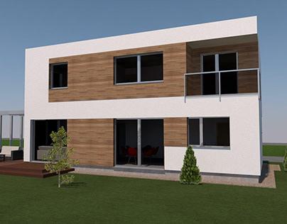 Modern minimalistic private house