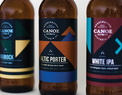 Canoe Brewpub Beer Labels