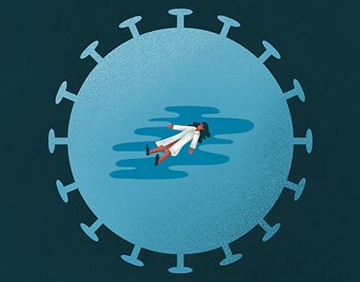 Editorial illustration – desperate scientists