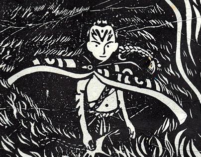 Lino prints-Neverending Story