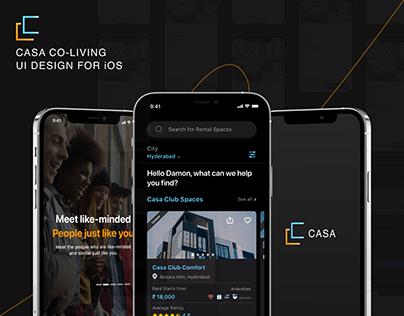 Casa Coliving UI Design for iOS