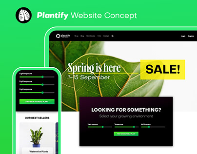 Plantify Website Concept