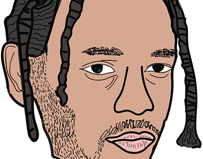 Kendrick Lamar cartoon