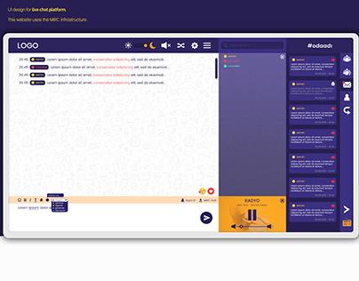 UI Design for Live Chat Website